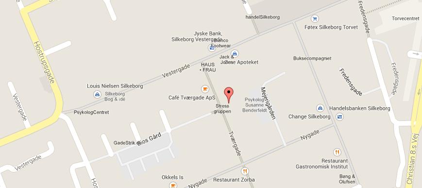 Find os på Tværgade 7C, 8600 Silkeborg
